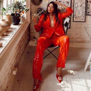 NWT Zara Sequin Pants